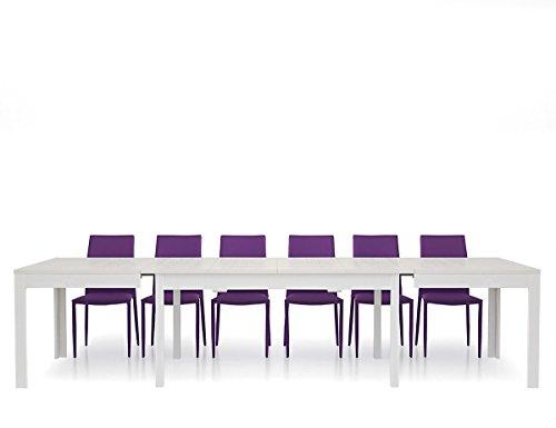 Lo Scrigno Arredamenti, Tavolo Rettangolare allungabile Bianco frassinato 160-332 W552/M