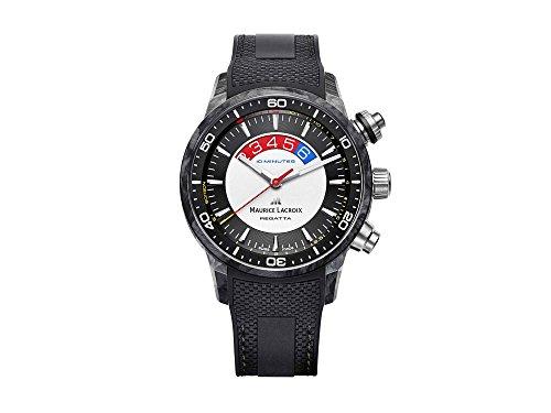 Maurice Lacroix Pontos S Regatta Automatik Uhr, Kohlenstoff, ML 162, Chronograph
