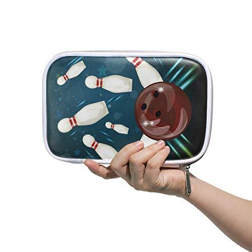 Federmäppchen für Kinder Bowlingkugel Unterhaltung Sport Große Schminktasche Kosmetiktaschen Multifunktionale Große Schminktasche Für Männer Frauen