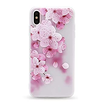 IMIFUN 3D Relief Flower Silicon Phone Case for iPhone 5,5S,SE,5C Rose Floral iPhone Cases Soft TPU Cover  for iPhone 5/5S/SE/5C