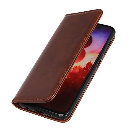 HAOYE Hülle für Oppo Realme X2 PRO Brieftasche, mit [Geld- & Kartenfächern] [Kickstand] [Magnetische Funktion] Folio Handyhülle, PU Leder Schutzhülle, Oppo Realme X2 PRO Flip Hülle, Kaffee