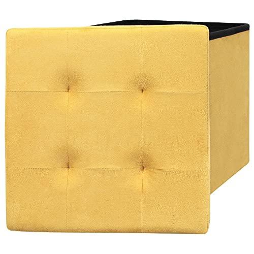 pouf bambini Pouf portaoggetti quadrato con coperchio elegante