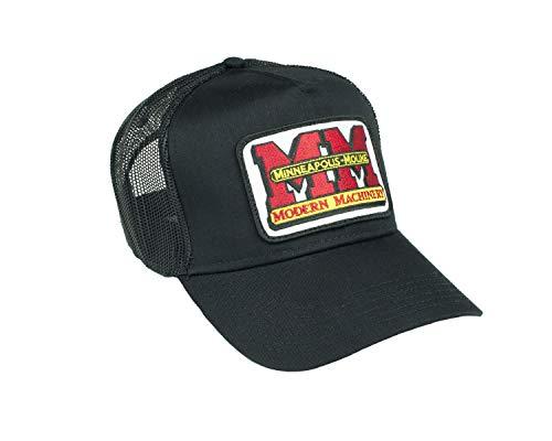 J&D Productions Minneapolis Moline Tractor Logo Hat, Black Mesh Trucker Style