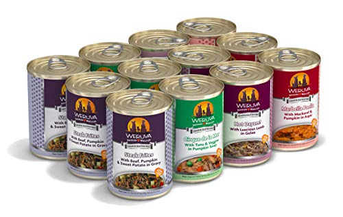 Weruva Classic Dog Food, Variety Pack, Chicken Free, Just 4 Me, Wet Dog Food, 14oz Cans (Pack of 12)