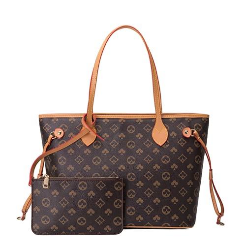 Aiovemc Damen Umhängetasche und Brieftasche Set Handtasche Mahjong Tasche PU Leder Shopping Handtasche Mode Retro