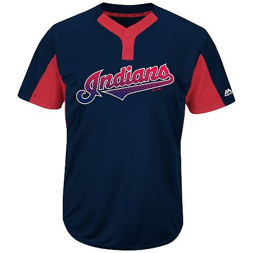f51b6a81d Majestic Navy Red 2-Button Cool-Base Cleveland Indians Blank or CUSTOM Back