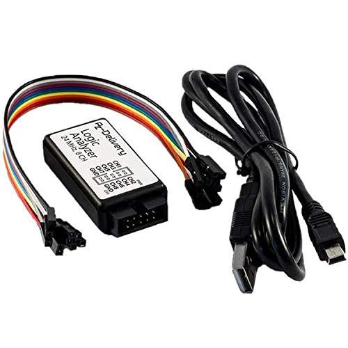 AZDelivery Logic Analyzer 8 CH 24MHz mit USB Kabel kompatibel mit Arduino inklusive eBook