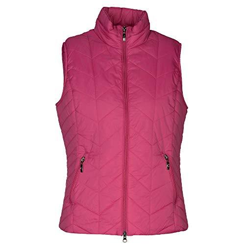 Clarina 227014978 418 Damen Steppweste mit Stehkragen Reißverschluss Taschen, Groesse 38, pink