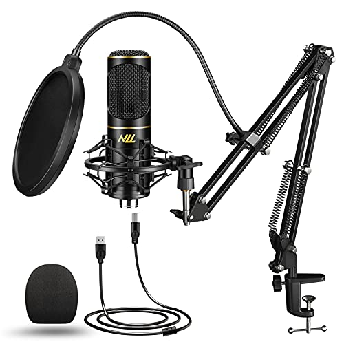 USB Microphone for Computer PC NLL Podcast Condenser Microphone Kit for Streaming...