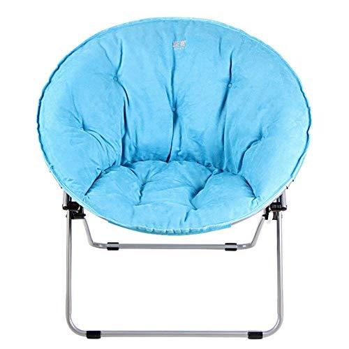 ZHANGYY Sillas de salón para Patio Silla reclinable, Silla reclinable Acolchada Plegable Sofá Perezoso portátil Estera de Pesca Relajante para Acampar Durable (Color: Azul)