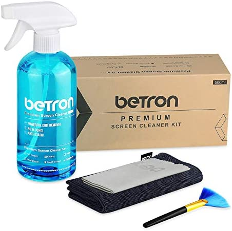 Betron TV Screen Cleaner Including Microfibre Clothes and Dust Brush for LED HDTVs PC Monitors product image