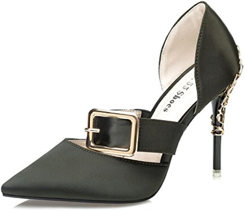 ProDIgal Women Classic Pointy Toe Kitten Pumps Slip-on Suede Low Heel shoes Formal