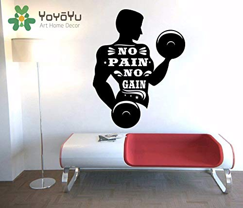 nkfrjz SIN Dolor SIN Ganancia Man Dumbbell Picture Art Etiqueta de la Pared