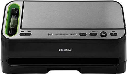 FoodSaver 2-in-1 Fridge and Freezer Preservation System - V4400 Automatic Vacuum Sealer, Stainless Steel/Black