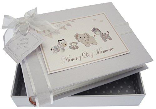 White Cotton Cards Argent Jouets Cérémonie de dénomination Album (Petite taille)