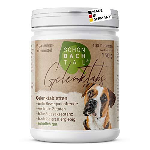 SCHÖNBACHTAL Premium Gelenktabletten für Hunde · mit Grünlippmuschel, Teufelskralle und MSM, optimale Rezeptur, hohe Akzeptanz · sehr ergiebig · 100 Tabletten, in Deutschland hergestellt und geprüft