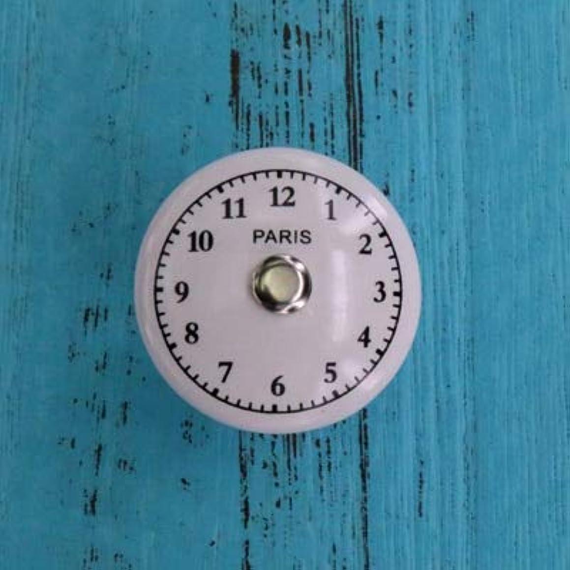 1x Round Dresser Knobs White Ceramic Drawer Pulls for Kids' Room Clock Door Cabinet Handles Funiture Hardware - (Color: B)