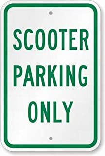 PaBoe Scooter Parking Only Sign Safety Sign 8x12 Tin Metal Signs Road Street Notice Sign Outdoor Decor Caution Signs