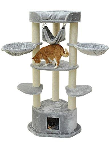 nanook Maximus - Katzen-Kratzbaum XXL für große und schwere Katzen (mit Ø 11 cm Stämmen) - Farbe: grau