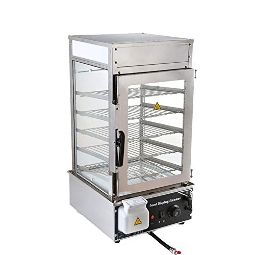 Electric Hot Food Warmer Display Case Food Steamer Bun Bread Warming Machine Commercial5 layers