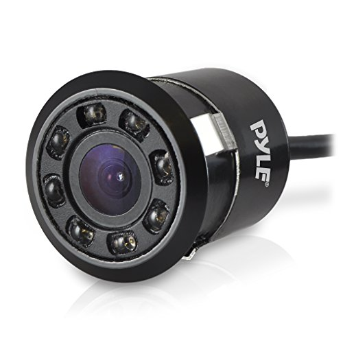 Pyle PLCM12 Rearview Backup Parking Assist Camera (Waterproof Night Vision Cam, Distance Scale Line Display, Flush Mount) backup Cameras Electronics Features Vehicle