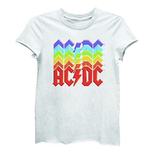 AC/DC Ladies Multiple Colorful Logos T-shirt, Large