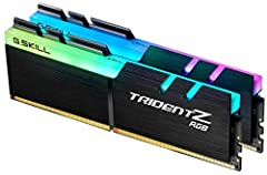 TridentZ RGB Series - 16GB DDR4 kit - 2x 8GB matched modules Timings of CL16 (16-18-18-38) at 1.35V Unique heatsink design with vibrant RGB LEDs Specifically engineered for the Intel based platforms 3200MHz memory speed, PC4-25600, 288 pins per modul...