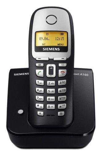Siemens Gigaset A160, Schnurloses DECT-Telefon mit beleuchtetem Display und Telefonbuch