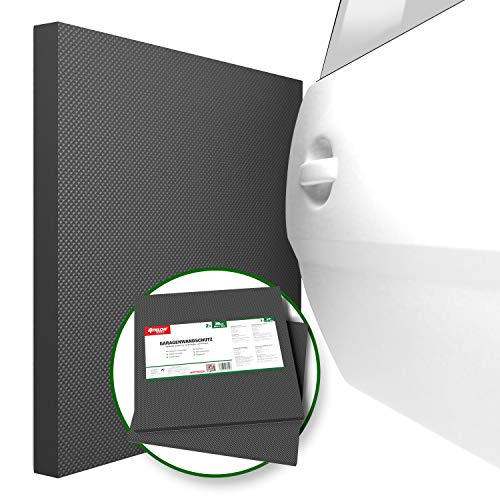 ATHLON TOOLS 2x XXL Garagen-Wandschutz selbstklebend | je 50 x 50 cm |Rammschutz Prallschutz Garagenpolster Türkantenschutz (Schwarz)