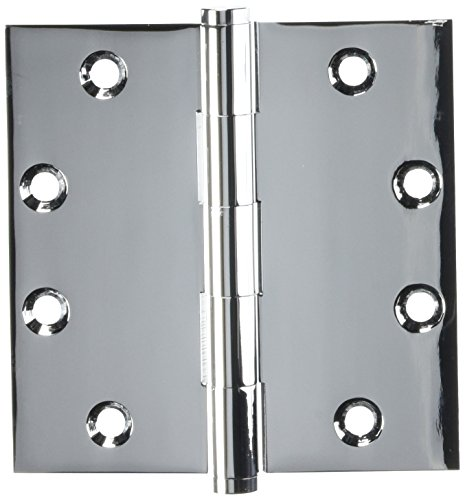 4.5 in. x 4.5 in. Square Solid Brass Hinge - Pair (Standard - Chrome)