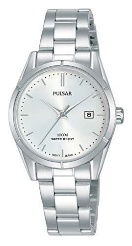 Pulsar Quarz Damen-Uhr Edelstahl mit Metallband PH7471X1