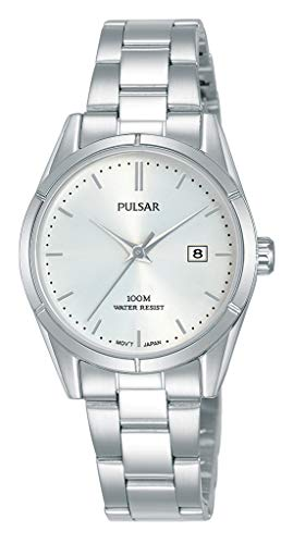 Pulsar dames analoog kwarts horloge met roestvrij stalen armband PH7471X1