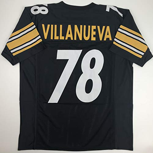 Unsigned Alejandro Villanueva Pittsburgh Black Custom Stitched Football Jersey Size XL New No Brands/Logos