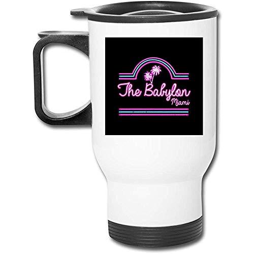 Scarface Babylon Club Miami Vaso de acero inoxidable de 16 oz Taza de café de vacío de doble pared
