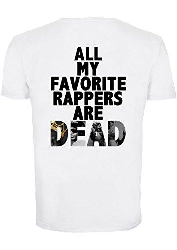 All My Favourite Rappers Are Dead Klein Damen T-Shirt (Entwurf auf der Rückseite)