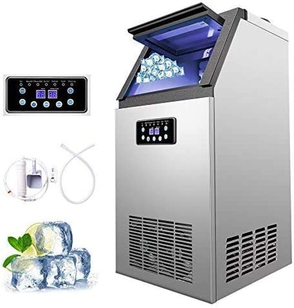 Vonluce , macchina per cubetti di ghiaccio 88kg / 24h , fabbricatore ghiaccio commerciale in acciaio inossida 1255