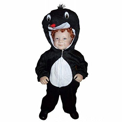 Maulwurf-Kostüm An47 für Babies und Klein-Kinder Faschingskostüme, Gr.-86-92/18-24 Monate, Schwarz-Weiß