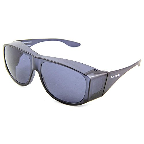 Solar Shield Fits-Over SS Polycarbonate II Smoke Sunglasses