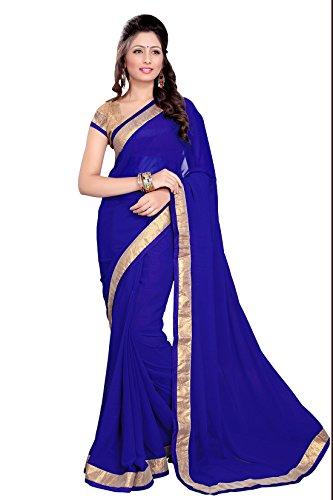 MirchiFashion Bollywood indischer Frauen Sari mit Ungesteckt Oberteil/Top Party Indians Saree Kleidung