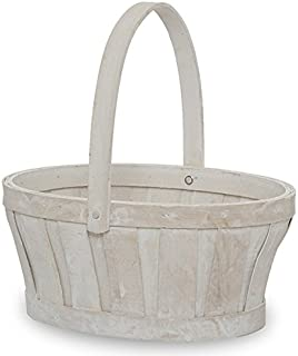 The Lucky Clover Trading White Wash Oval Woodchip Handle, 9