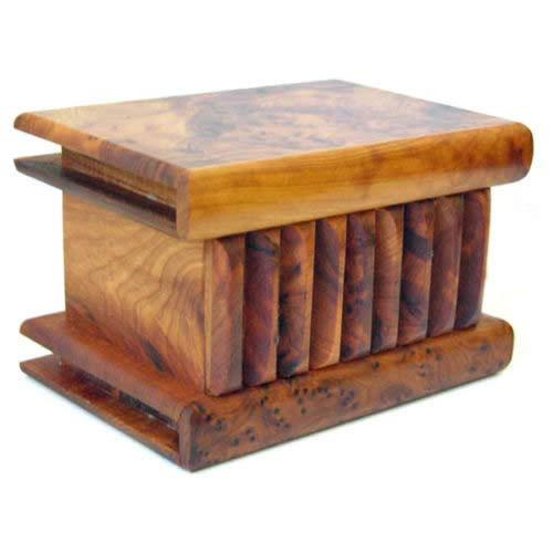 Legno Thuya marocchina di grandi dimensioni scatola magica - L15 W10 H8 Cm
