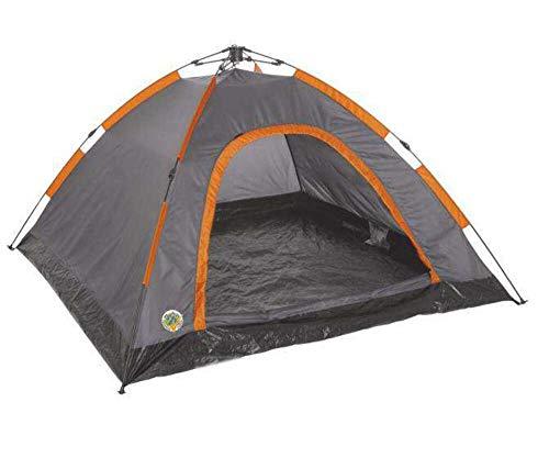 Happy People-Adventure Tente Famille 4, 4 Personnes-Orange/Gris/Sable