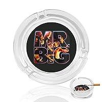 Mr BIG 灰皿 アッシュトレイ ガラス材 おしゃれ 煙草 喫煙 プレート 卓上 カフェ スタイル 透明 マルチ アクセサリー 雑貨 メンズ レディース 防風設計 家 オフィス