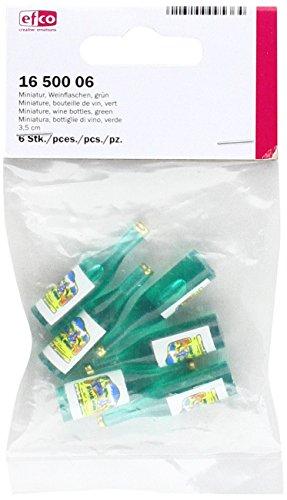 EFCO–Miniatur Weinflaschen, mehrfarbig, 3,5cm, 6-tlg.