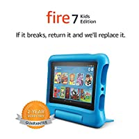 "Fire 7 Kids Tablet, 7"" Display, 16 GB, Blue Kid-Proof Case"