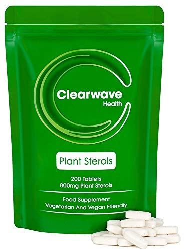 Clearwave Health Plant Sterols 800mg - 200 Tablets - High Strength - GMP Manufactured - Made in UK