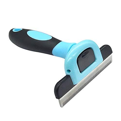 QiCheng&LYS Die Fellbürste ist für Katzen und Hunde Geeignet um Lose Haare und Haare zu entfernen. (Blau, 100mm)
