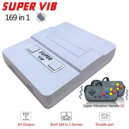 Retro Spielkonsole , Built-in 169 Klassische Spielen (30 Vibrierende Spielen) , Handheld Spielkonsole Unterstützt das Anschließen an den TV-Anschluss - Grau