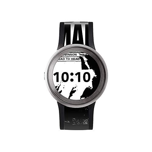 Sony FES-WA1 Watch U E-Papier Fashion Uhr (mit Aktivmatrix in Ziffernblatt und Armband, Bluetooth, Designanpassung per Knopfdruck, Ladestation) silber
