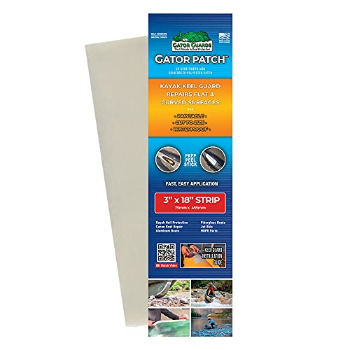 Gator Patch Kayak Keel Guard - Keel Strip Form - Protects and Repairs Vulnerable...